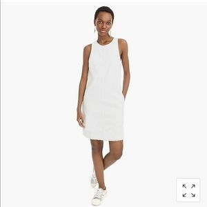 JCrew White Denim Shift Dress